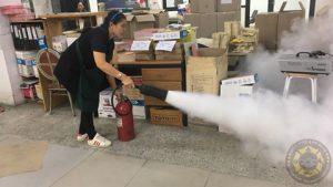 ภาพกิจกรรม รับอบรมดับเพลิง หลักสูตรอบรมดับเพลิงขั้นต้นและฝึกซ้อมอพยพหนีไฟ